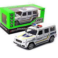 Машинка игровая автопром «Полицейский автомобиль» джип, металл, 14 см (свет, звук) 7844-4