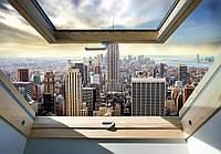 Фотообои 3D город Нью-Йорк 254х184см Манхэттен с окна (10415CN)