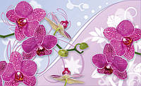 Фотообои 3D цветы (флизелин 312х219, бумага 368х254) Розовые лепестки  орхидей 1207CN