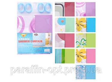 Шторы в ванную 2 шт/наб полиэтилен с разными цветами