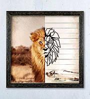Интерьерная картина Decart Lion Wallpaper LW1001, 50х50