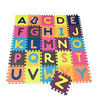 Детский развивающий коврик-пазл - ABC (140х140 см, 26 квадратов), фото 1