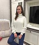 Женский теплый объемный  свитер  под горло крупной вязки (разные цвета), фото 9