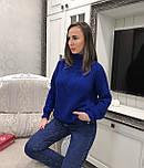 Женский теплый объемный  свитер  под горло крупной вязки (разные цвета), фото 7