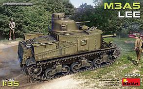 Американский средний танк M3A5 Lee. Сборная модель танка в масштабе 1/35. MINIART 35279