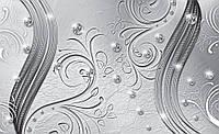 Фотообои 3D фигуры 368x254 см Бриллианты и серые узоры (2009CN)