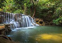 Фотообои флизелиновые 3D Природа, пейзаж 416х290 см : Тихий водопад  (12114CN)