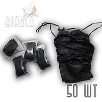 Трусы-стринги мужские Doily спанбонд черные, (50шт) XXL