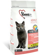 Сухой корм для кошек 1st Choice Adult Indoor Vitality Chicken с курицей 907 г