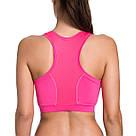 Спортивный топик топ лиф для фитнеса розовый LAISLA (XXL) №40p Спортивные топы топики, фото 2