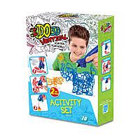 Набор для детского творчества с 3D-маркером - ЗООПАРК (3D-маркер - 2 шт, шаблон, аксессуары)