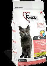 Сухой корм для кошек 1st Choice Adult Indoor Vitality Chicken с курицей 5,44 кг