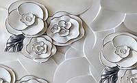 Фотообои 3D готовые флизелиновые 312х219 см Цветы из фарфора (3696CN)