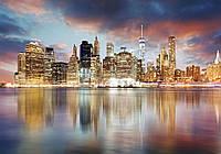 Фотообои 3D город 368х254 см Сверкающие небоскребы (11854CN)