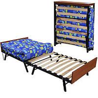 Раскладушка Модерн для сна и отдыха с матрасом на ламелях