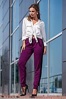 Модные вязаные женские брюки с лампасами (4 цвета)