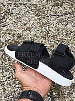 Босоножки женские черно-белые Adidas adilette sandals