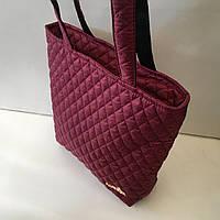 Женская сумка стеганая (бордовая)