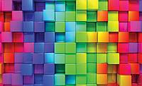 Фотообои 3D (флизелиновые, 416х254 см) Кубики цвета радуги (3700.21022)