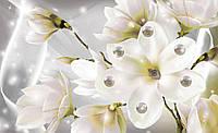 Фотообои 3D цветы (флизелиновые, 312х219 см) Магнолии и жемчужины  (3507.20020)