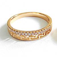 Кільце 16р. 4мм xuping медичне золото позолота 18К 8341