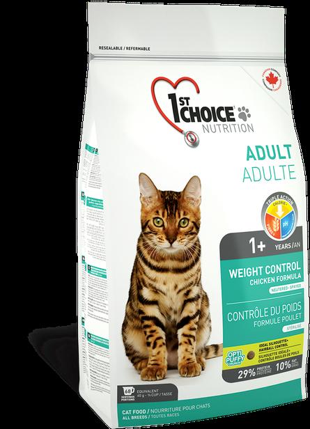 Сухой корм 1st Choice Weight Control для кошек, склонных к полноте 10 кг