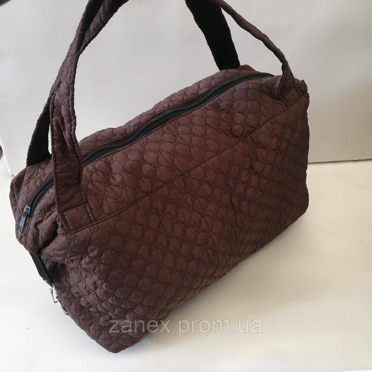 Женская сумка стеганая (коричневая)