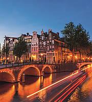Фотообои флизелиновые 3D город 225х250 см Амстердам (MS-3-0023)