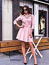 Замшевое платье с расклешенной юбкой и рубашечным верхом 17plt179, фото 2