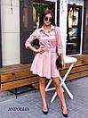 Замшевое платье с расклешенной юбкой и рубашечным верхом 17plt179, фото 5