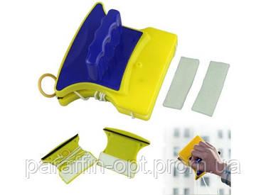 Магнитная щетка для мытья окон с двух сторон Glass Wiper