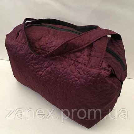 Женская сумка стеганая (бордовая), фото 2