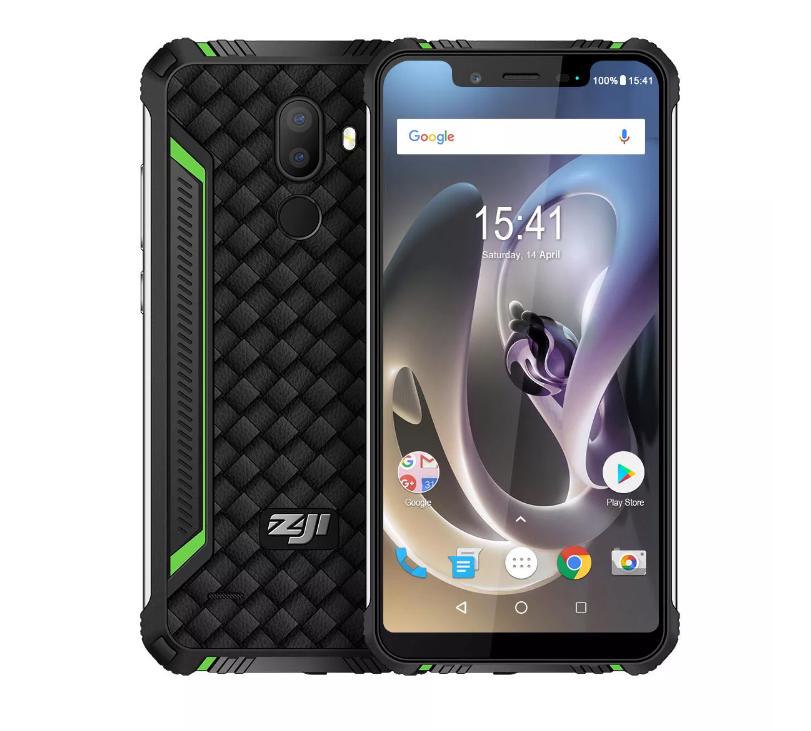Защищенный смартфон HomTom Zoji z33 защита IP68 3/32Gb 4600mAh быстрая зарядка, поддержка 4G