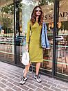 Ангоровое приталенное платье миди с длинным рукавом 73plt188, фото 3