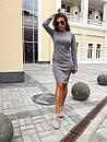 Ангоровое приталенное платье миди с длинным рукавом 73plt188, фото 4