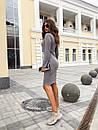 Ангоровое приталенное платье миди с длинным рукавом 73plt188, фото 5