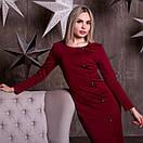 Платье - футляр с пуговицами сбоку и длинным рукавом 64plt190, фото 2