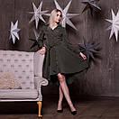 Платье - рубашка с асимметричной пышной юбкой и длинным рукавом 64plt191, фото 2
