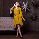 Платье - рубашка с асимметричной пышной юбкой и длинным рукавом 64plt191, фото 3