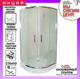 Душевая кабина 90х90 см AquaStream Pattern 99 L №8 профиль хром