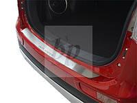Защитная хром накладка на задний бампер (планка без загиба) mitsubishi outlander III(митсубиси аутлендер) 2012