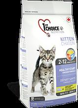 Сухой корм для котят 1st Choice Kitten Healthy Start с курицей 2,72 кг