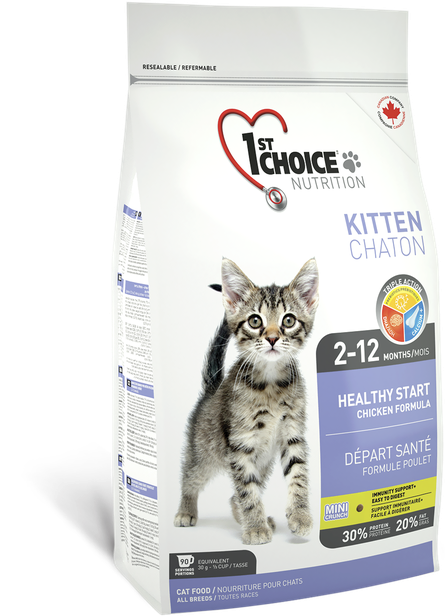 Сухой корм для котят 1st Choice Kitten Healthy Start с курицей 10 кг