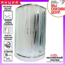 Душевая кабина 90х90 см AquaStream Pattern 99 L №4 профиль хром