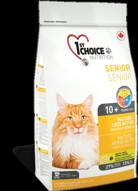 Сухой корм для пожилых или малоактивных кошек 1st Choice Senior Mature Less Aktiv с курицей 2,72 кг