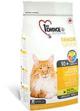Сухой корм для пожилых или малоактивных кошек 1st Choice Senior Mature Less Aktiv с курицей 5,44 кг