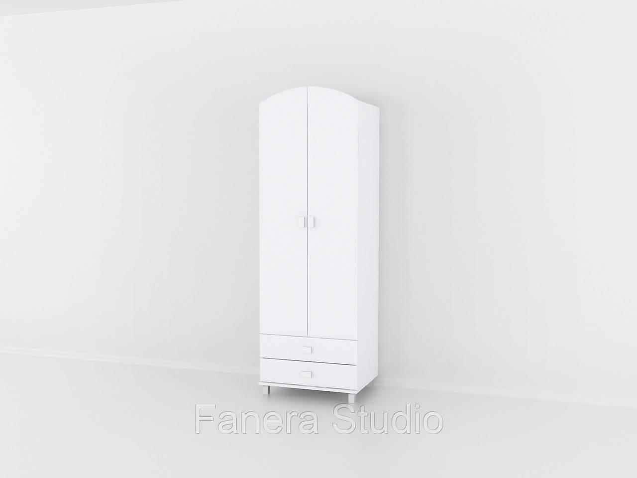 Шафа з двома дверима і двома ящиками для одягу, меблі з вологостійкого МДФ