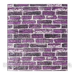 Самоклеющиеся обои Декоративная 3D панель ПВХ 1 шт, фиолетовый екатеринославский кирпич