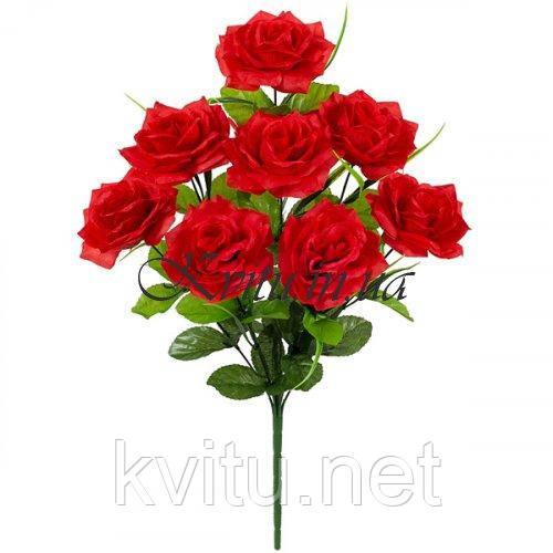 Искусственные цветы букет розы пышной, 54см
