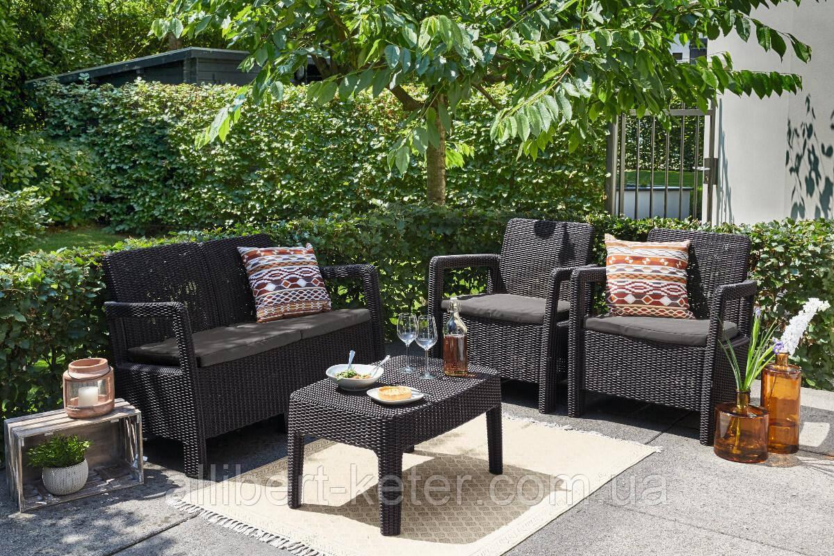 Набор садовой мебели Tarifa Set из искусственного ротанга